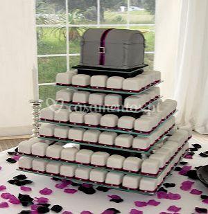 Casamento com mini bolos