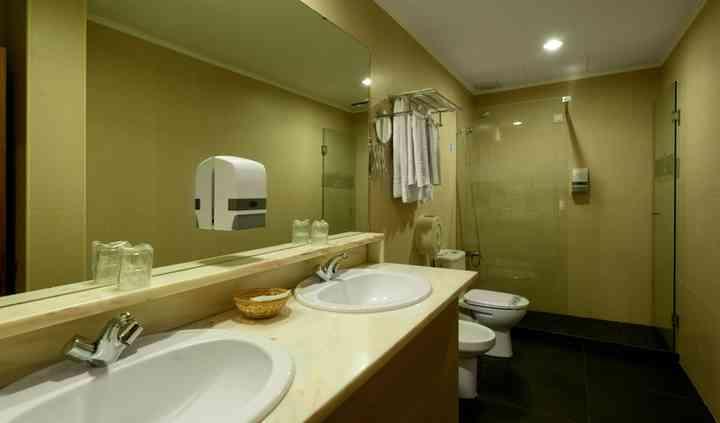 Interior dos banhos