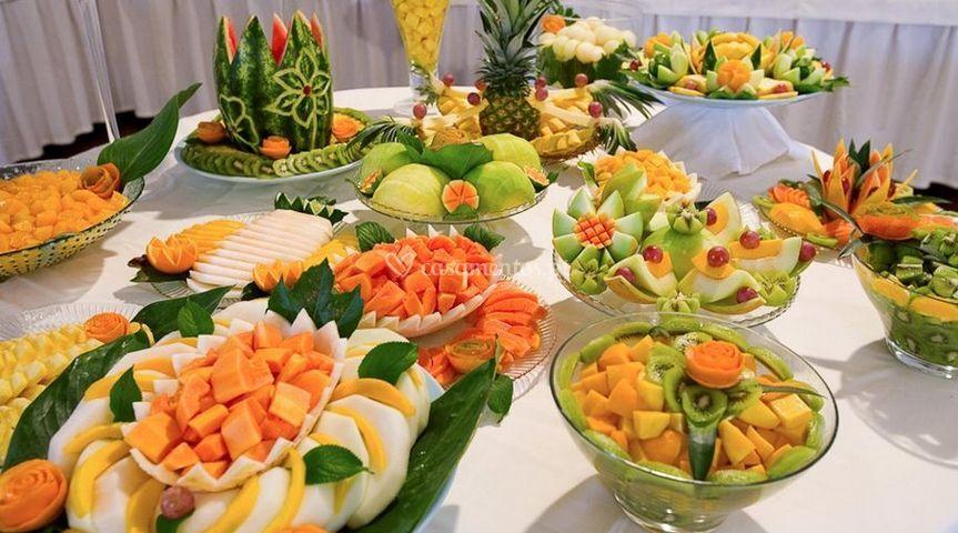 Decorado com frutas