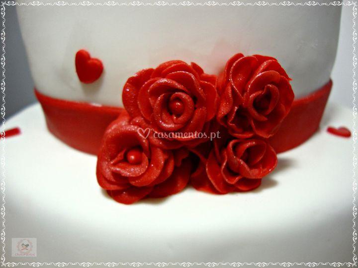 Rosas em açucar.