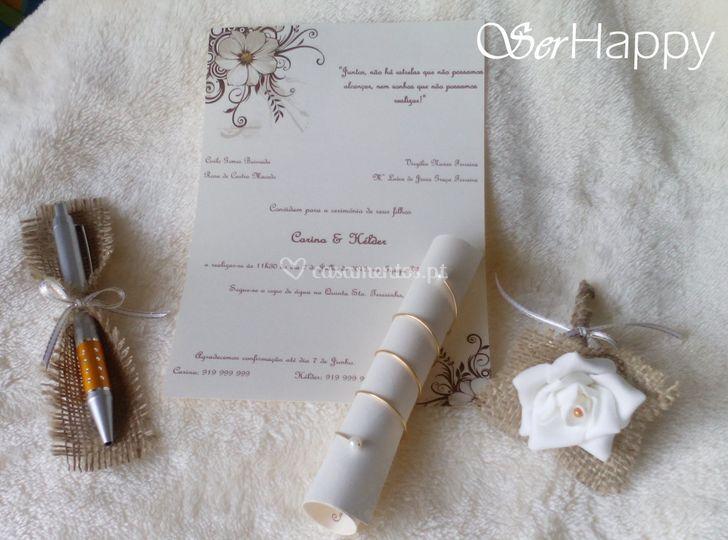 Convite de casamento e lembran