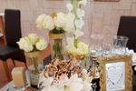 Decoração mesa dos noivos.