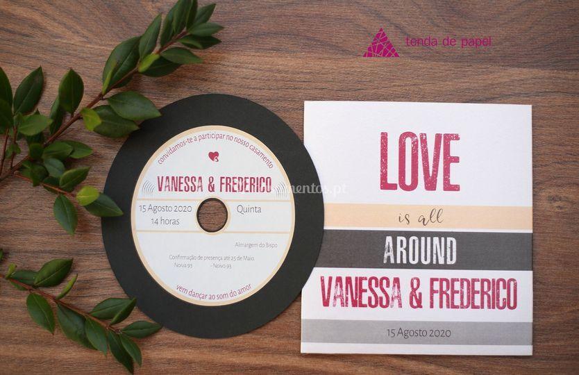 Convite em forma de CD música