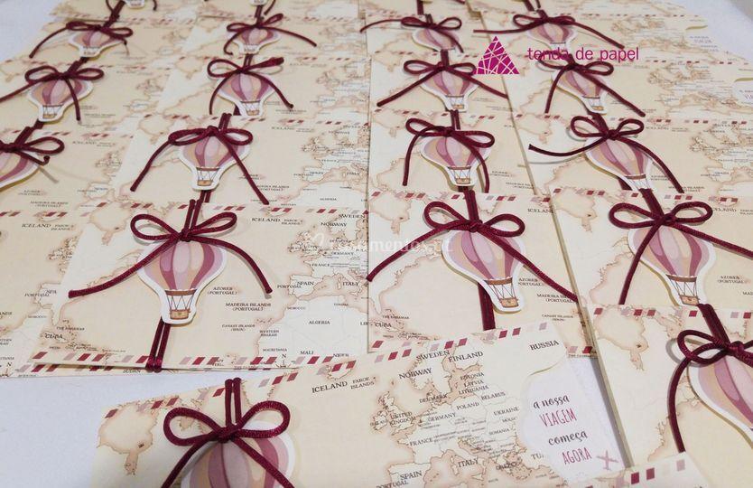 Convite mapa mundo