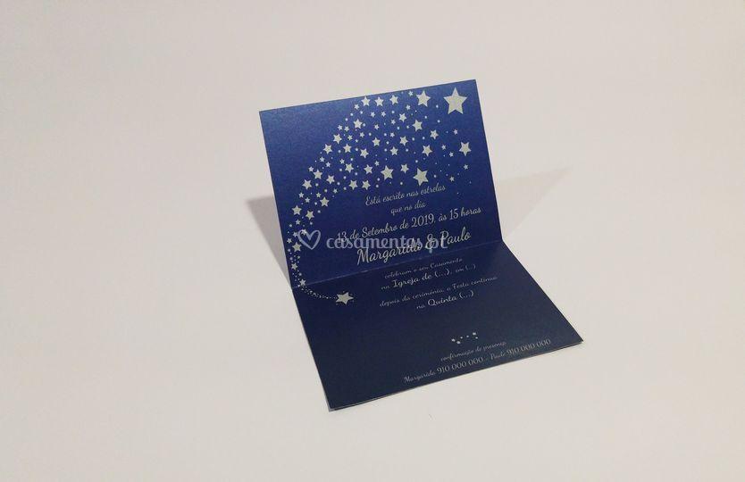 Convite noite de estrelas