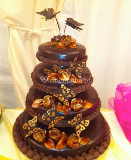 Delicioso bolo de chocolate