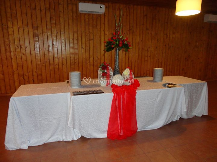 Decor da mesa de buffet