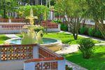 Repuxe no jardim de Quinta Valenciana