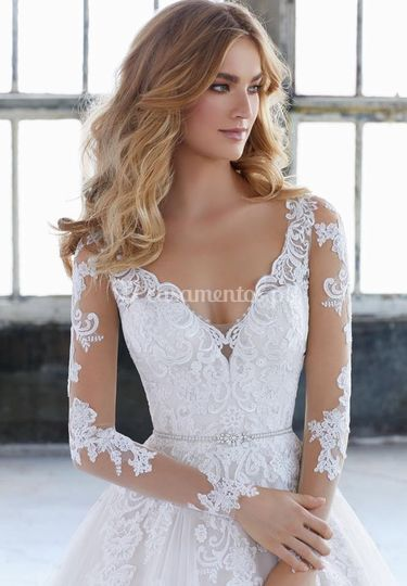 Vestido noiva com mangas