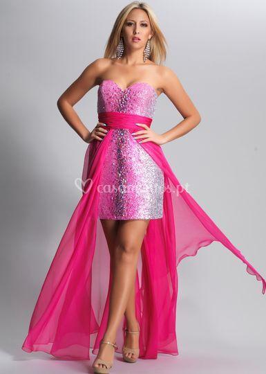 Vestido de cerimónia rosa