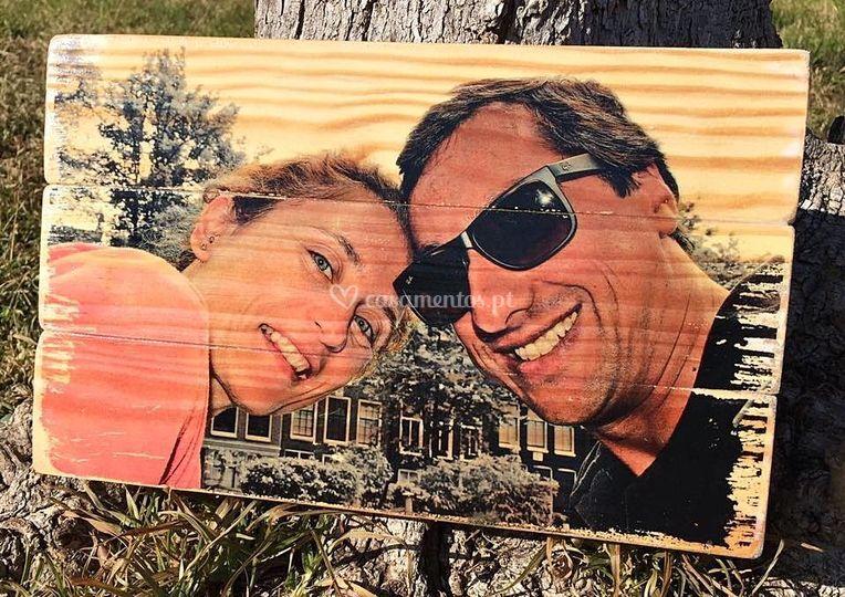 Fotografia em madeira
