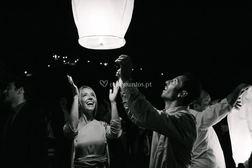 Lançamento de lanternas