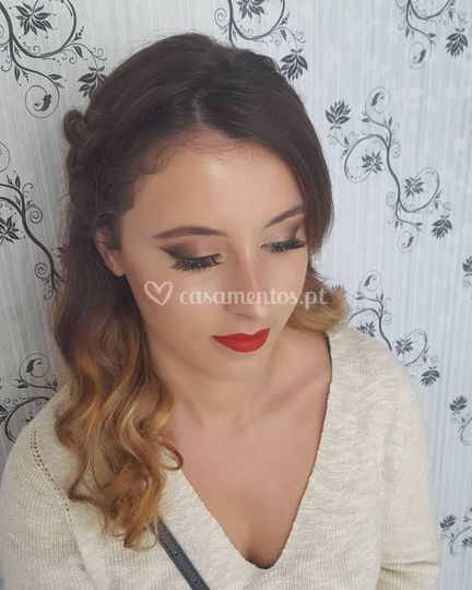 Penteado e make up