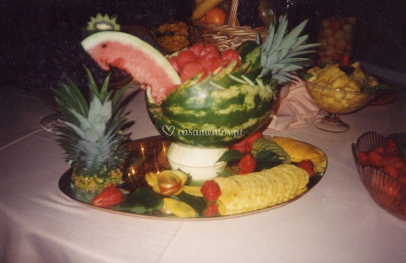 Decoração de frutas