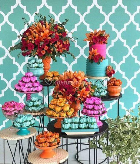 Mesa doces para aniversário