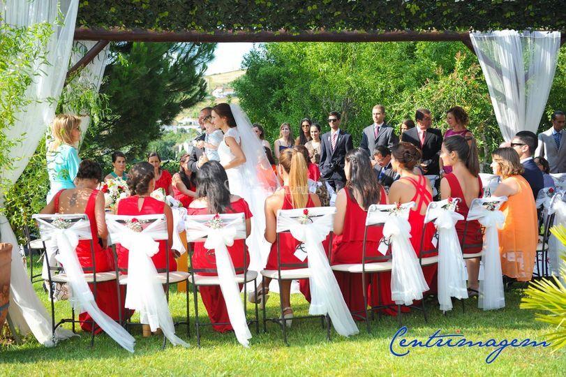 Cerimónia no jardim