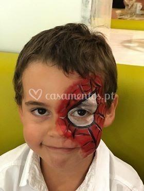 Pinturas faciais antialérgicas