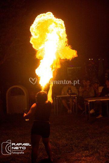 Malabarismo de fogo