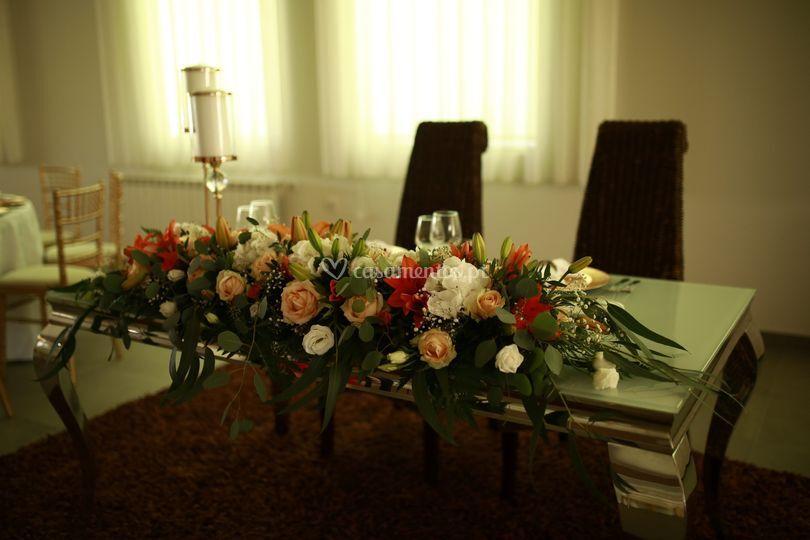 Mesa dos noivos individual