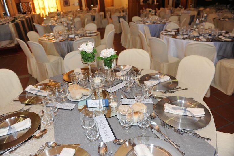Exemplos de decoração de mesas