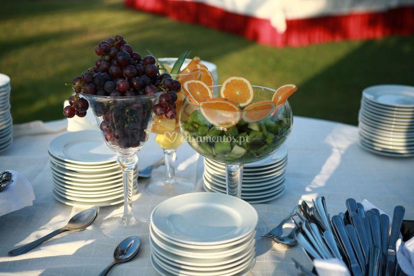 Exemplo de buffet de frutas