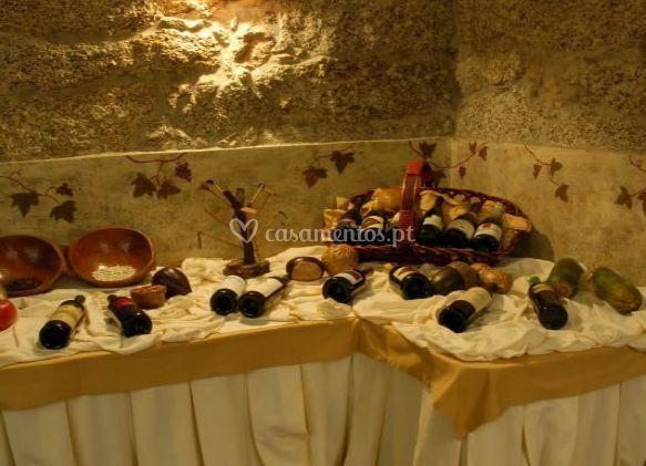 Mesa de vinhas