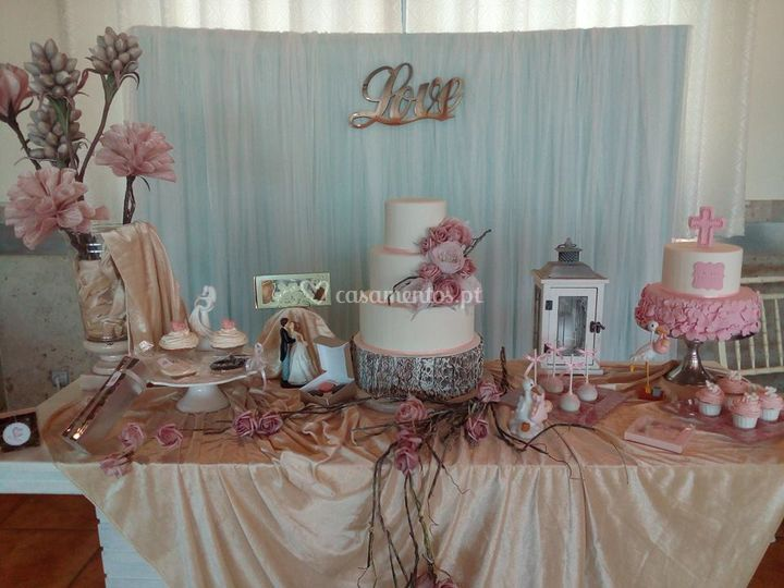 Mesa bolo noiva