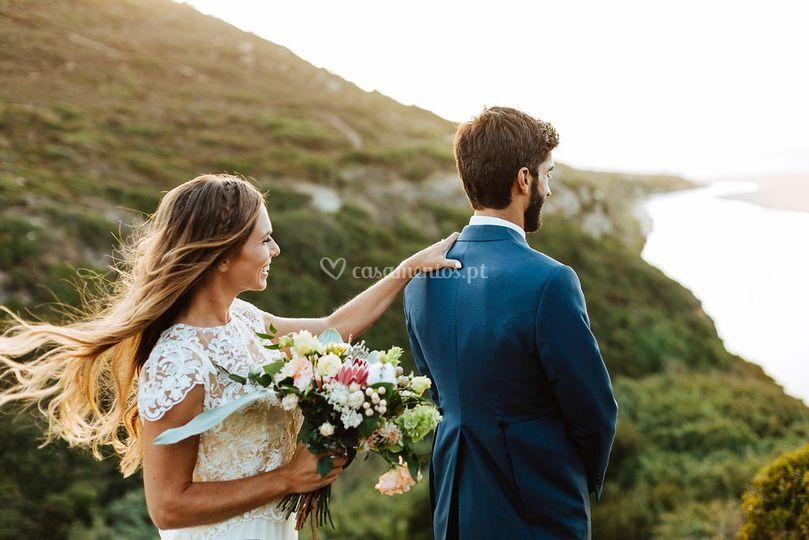Casamento junto ao mar