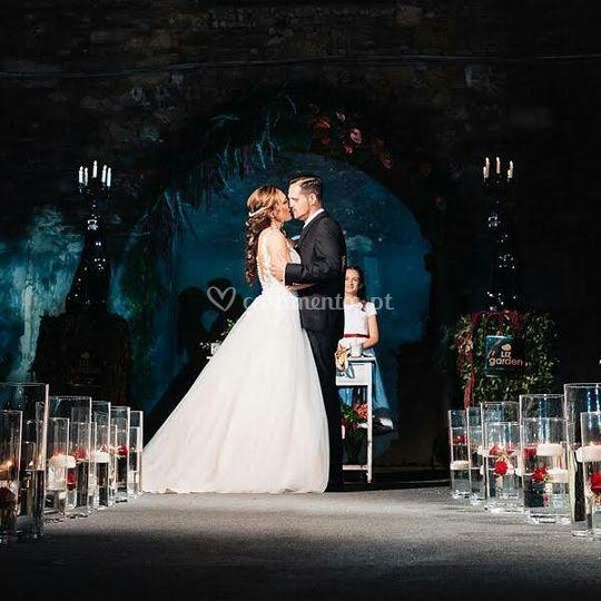 Casamento ao inicio da noite