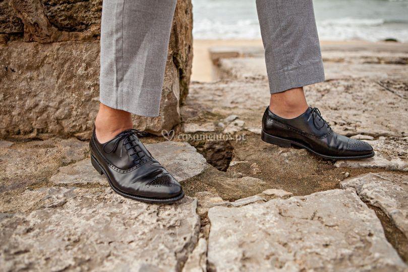 Sapato em Pele Glace Preto.