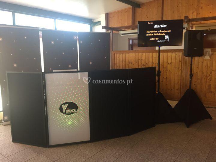 Biombo Dj com retro-laser