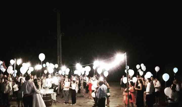 Largada de balões com LED