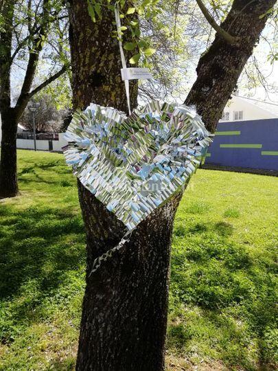 Pinhata coração em prata