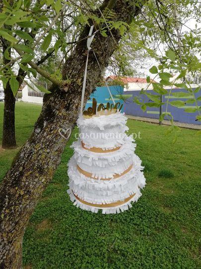 Pinhata bolo de casamento xxl