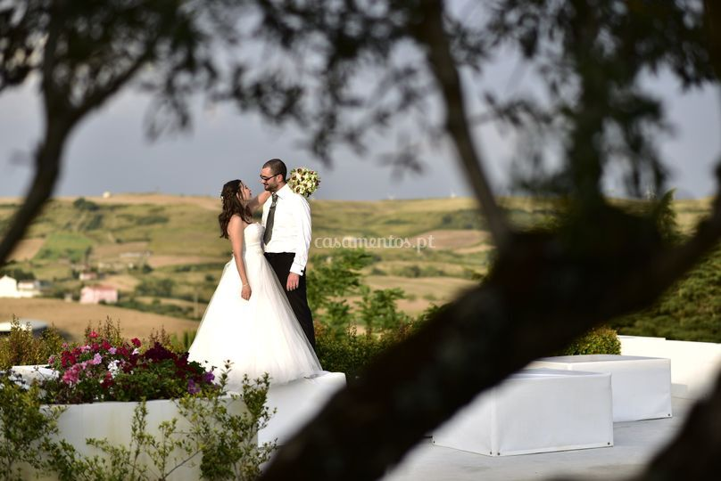 Paisagem com noivos