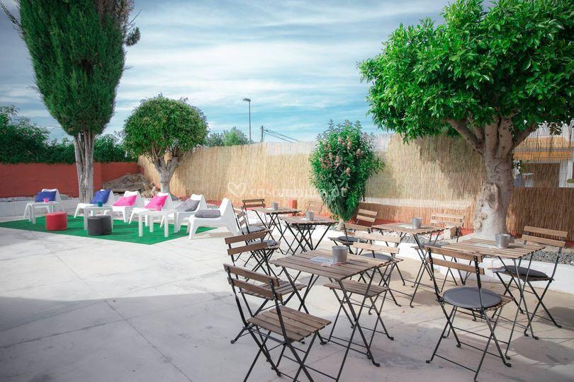 Lounge bar e terraço