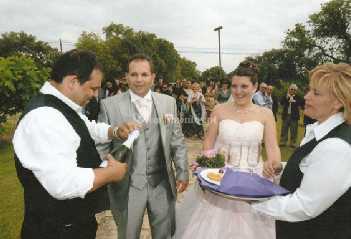 Brinde para os noivos
