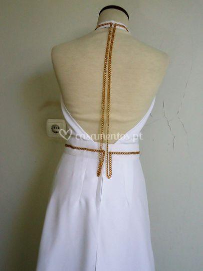Vestido de cerimónia - costas