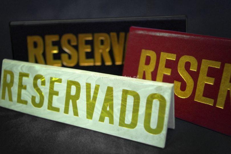 Reservados para mesa