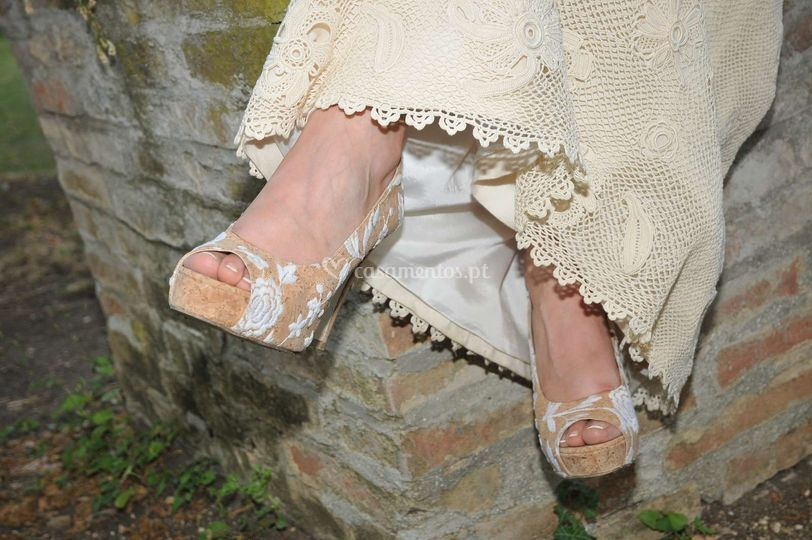 Cork rose peep toe by Nae