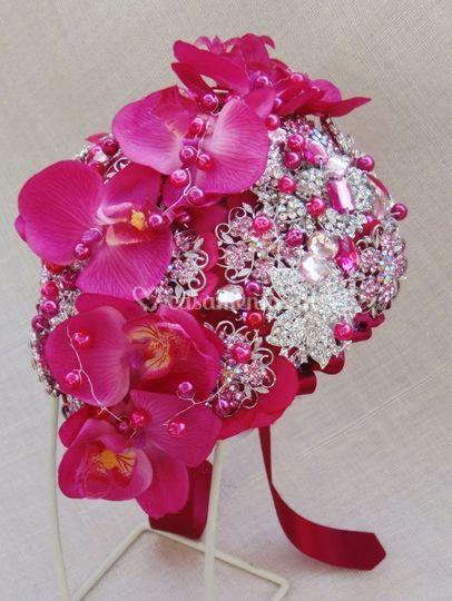 Bouquet Orquidea Fushia