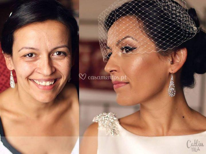 Isabel . before & after makeup