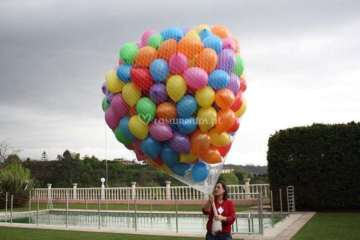 Balões prontos para soltar