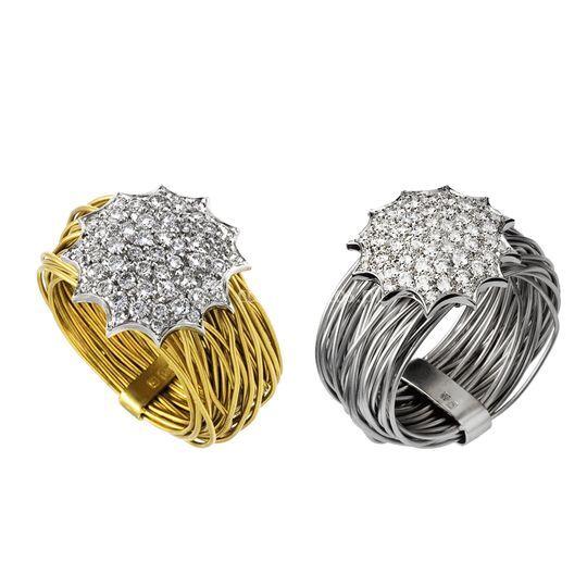 Ninho ouro e diamantes