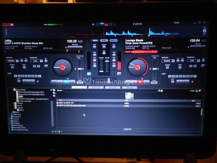 Software usado - Virtual DJ