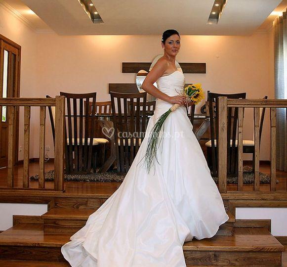 Detalhes do vestido de noiva