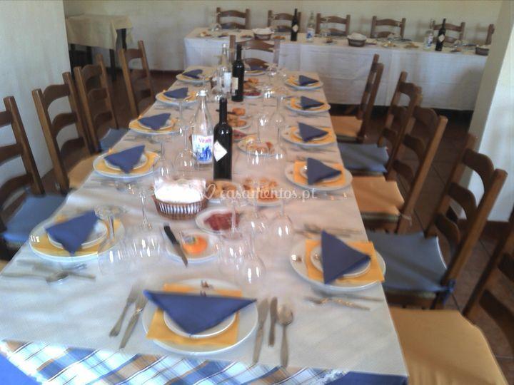 Mesas para os convidados