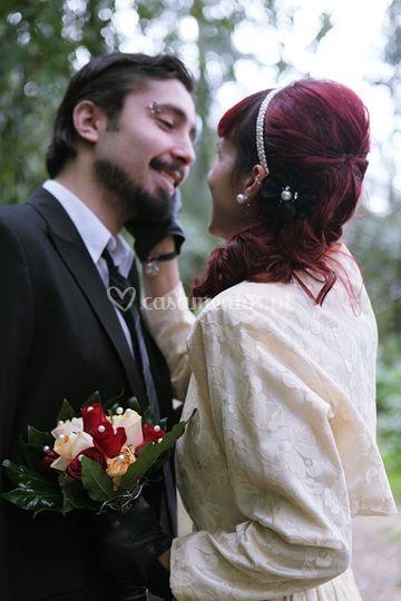 Cláudia e Tiago o beijo