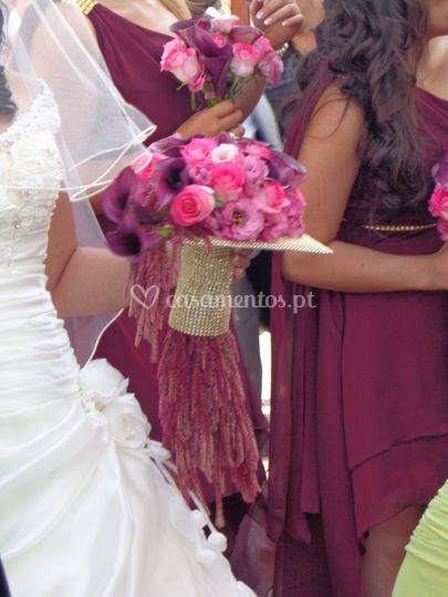 Ramo de noiva rosa