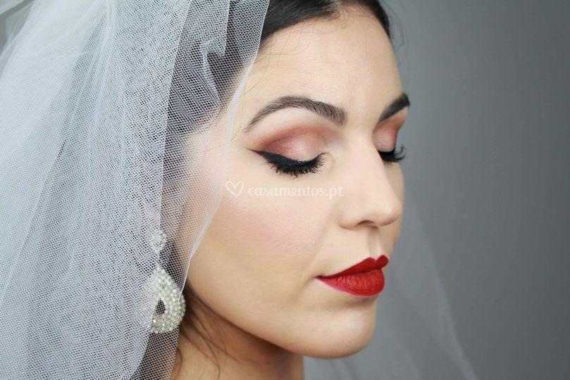 Beauty shoot vintage bride